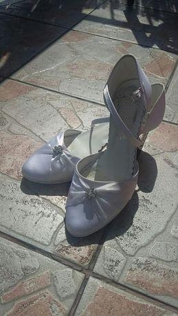 Buty ślubne białe rozm. 35