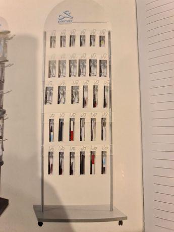 Wysoki ekspozytor sklepowy na kółkach, 210cm. Haki