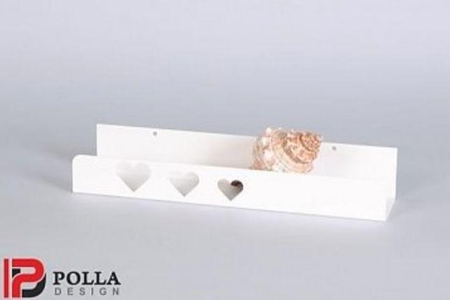 Piękne metalowe półki, GRATIS mały wieszak lub podpórka na książki;)