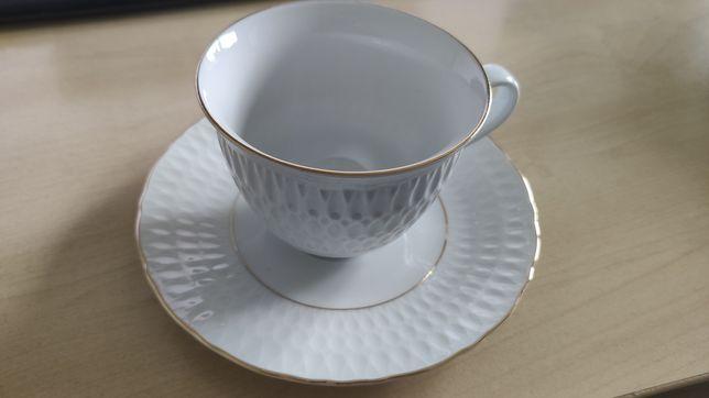 Zestaw 6 x filiżanka 250ml i talerzyk porcelanowe nowe Sofia Ćmielów