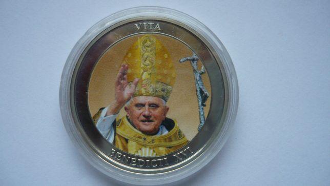 Medal Papież Benedykt XVI-tampodruk