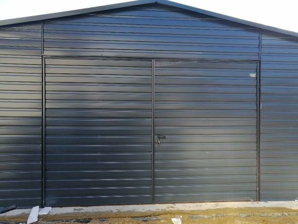 Garaz blaszany 5x5m kolor antracyt