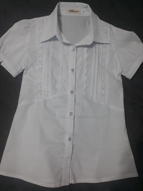 Biała bluzka rozmiar 146 dziewczynka