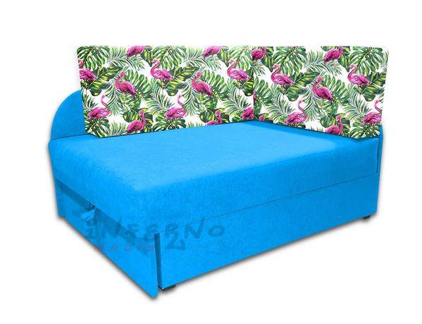 Narożnik dziecięcy KUBUŚ, rozkładane łóżko dla dziecka, sofa, pianka