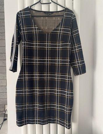 Sukienka w kratę kratka Top Secret