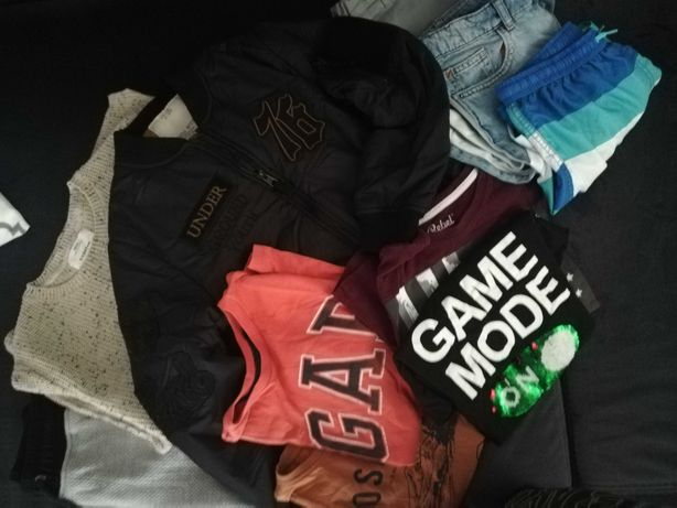 Paka ubrań 9 lat Zara: bomberka, gap, mango bluza, spodnie. Polecam