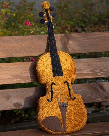 Skrzypce pluszowe, poduszka, prezent dla muzyka