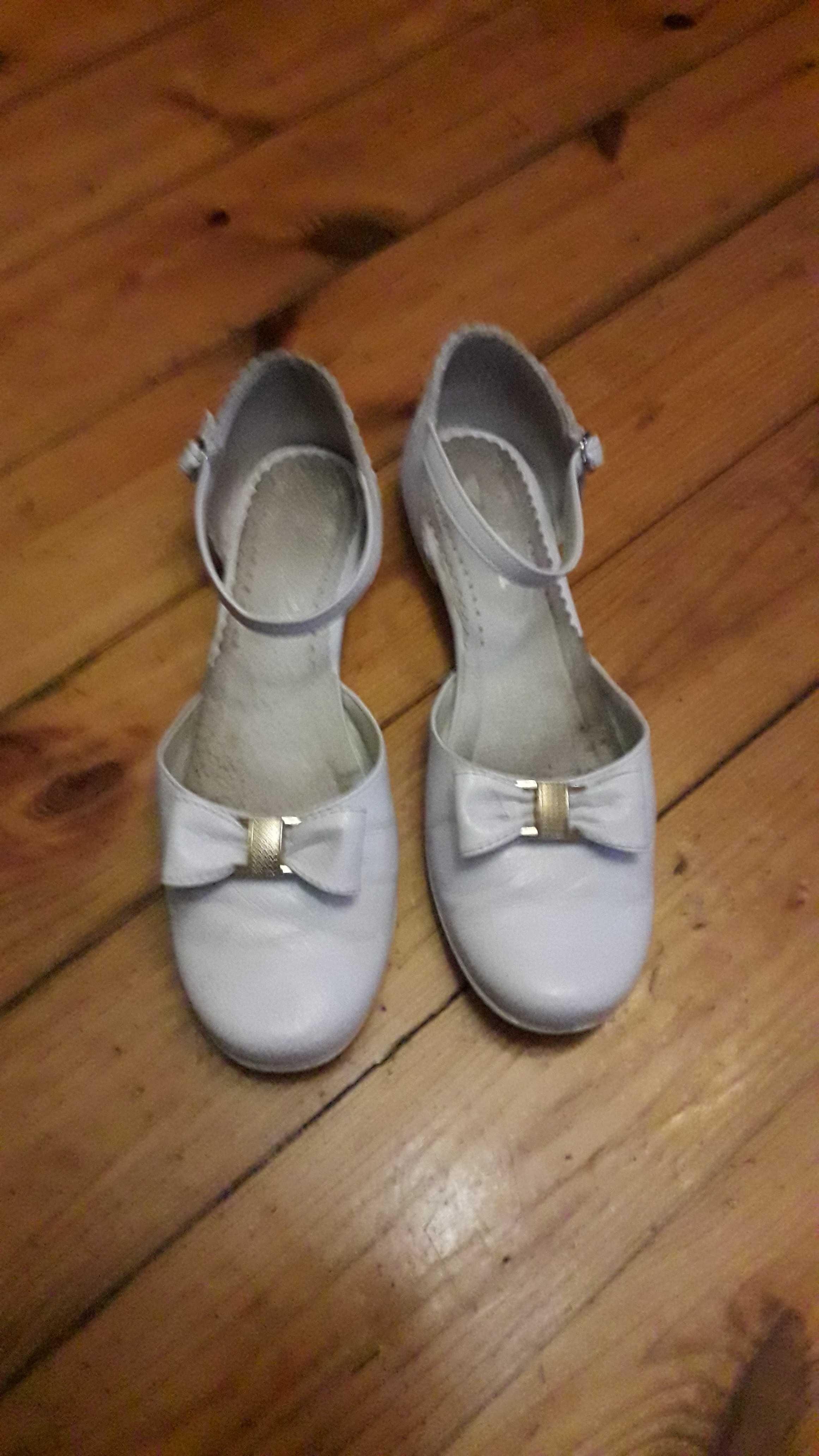 Buty białe komunijne roz. 37