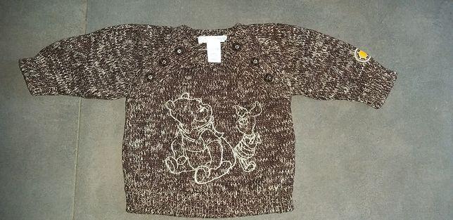 Ciepły sweter Kubuś puchatek  HM 62