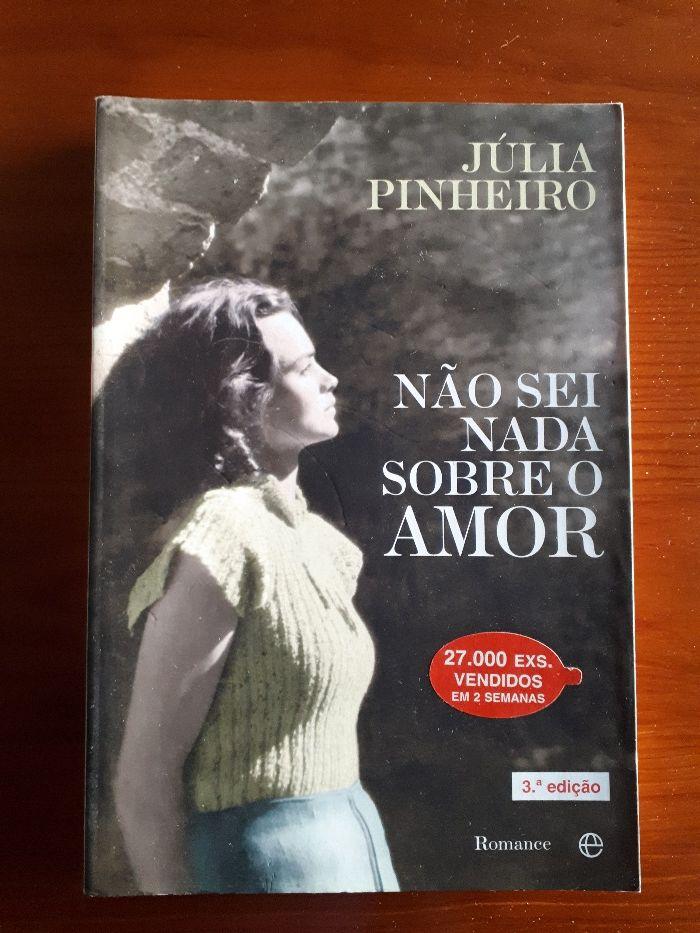 """Livro"""" Não sei nada sobre o Amor"""" de Julia Pinheiro"""