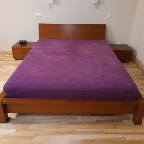 Łóżko drewniane kompletna rama 160x200
