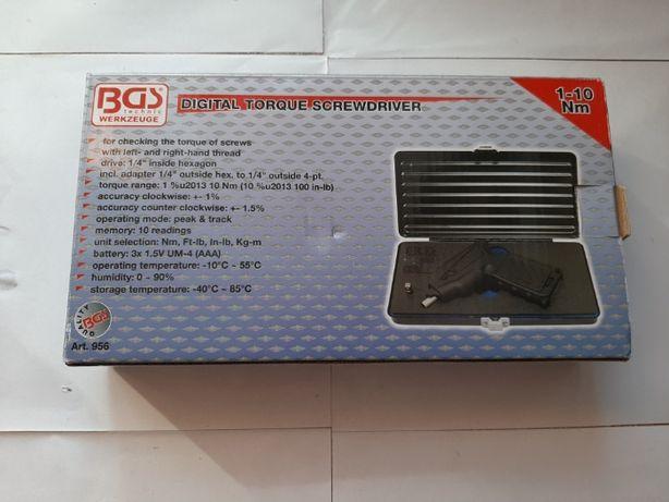 """Cyfrowy klucz dynamometryczny BGS 956 6,3 mm (1/4 """")   1-10 Nm"""