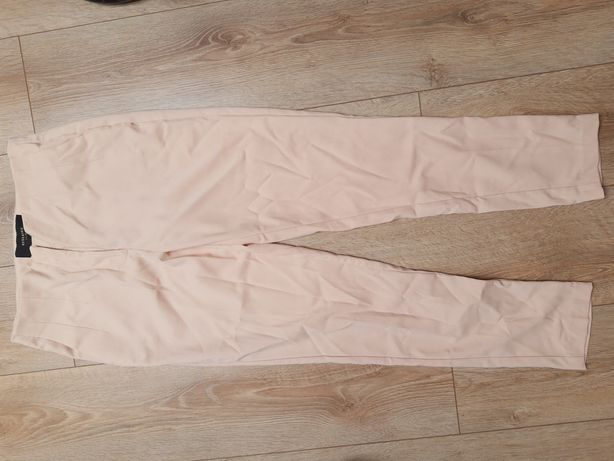 Eleganckie spodnie pudrowy róż 36 reserved