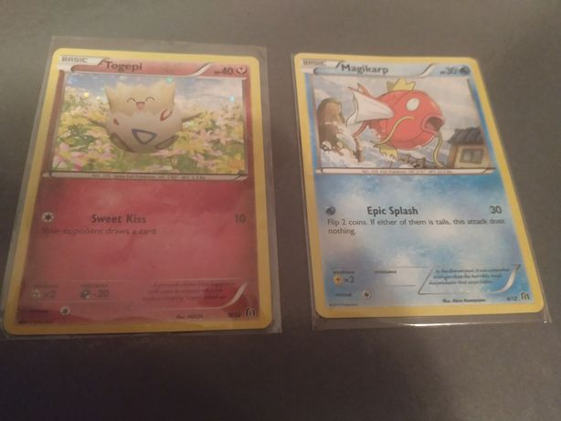 Cartas Pokémon - Togepi e Magikarp - McDonalds