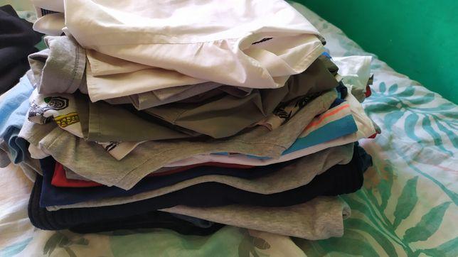 Koszulki spodnie bluzki 128