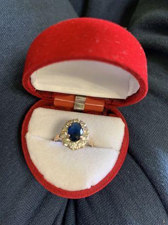 Pierścionek złoto zaręczynowy Szafir 12