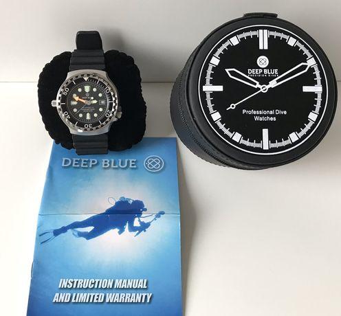 Zegarek nurkowy Deep Blue GP 1K 1000 m z zaworem helowym Nurkowanie