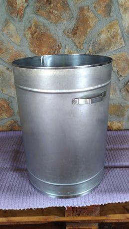 Balde/deposito inox 50 litros.