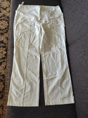 Spodnie ciążowe lniane Branco rozmiar XXL