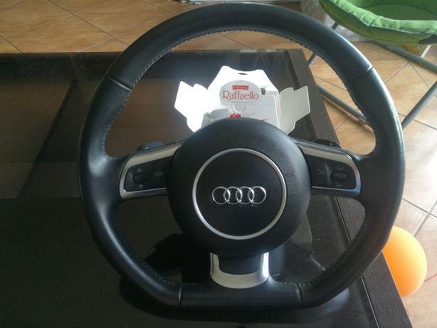 Kierownica ścięta Audi A1 A3 A4 A5 A6 A7 A8 Q5 Q7 Łopatki F1 Gałka S5