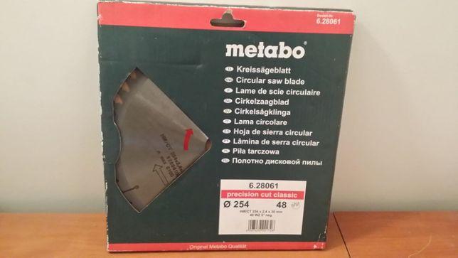 Tarcza widiowa 254 mm Metabo 48z Super jakość