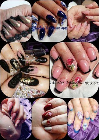 Наращивания ногтей и покрытие Гель Лаком