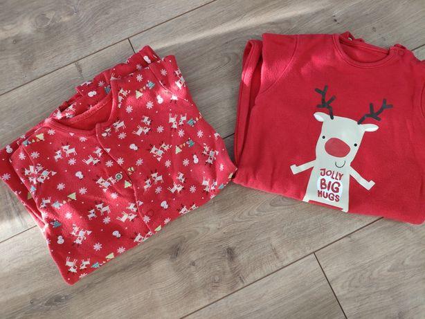 Pajacyk piżama świąteczna święty mikołaj 80
