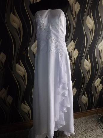 suknia ślubna jedwab 40