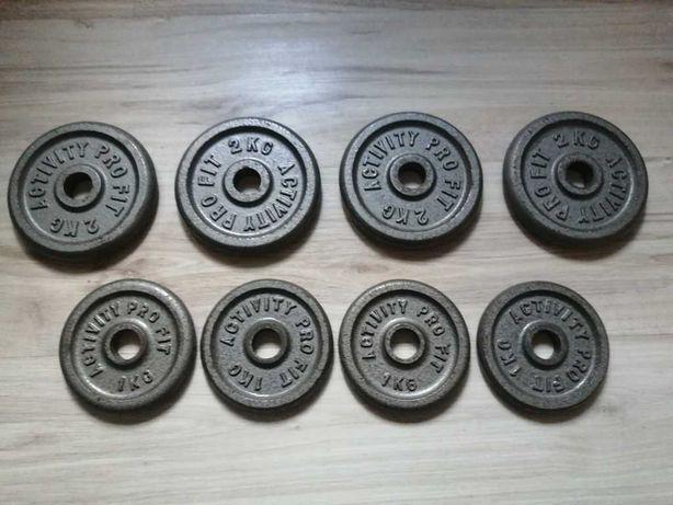 obciążenie żeliwne 4x2kg 4x1kg 28mm