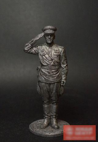 Оловянный солдатик Гвардии капитан Красной Армии 1943-45 гг. СССР WW2-