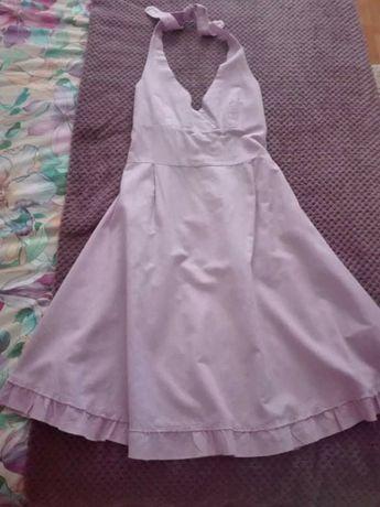 Vestido linho lavanda