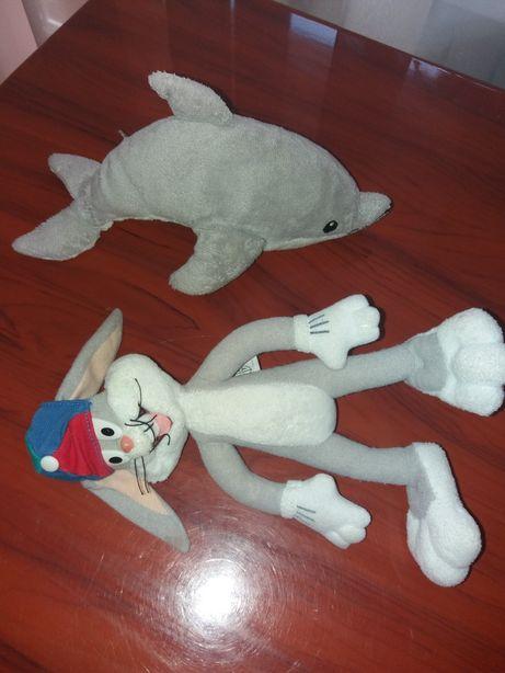 Мягкие игрушки дельфин кролик заяц Багзбанни