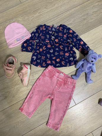 Одяг на дівчинку, штани, рубашка, блузка, джинси шапка