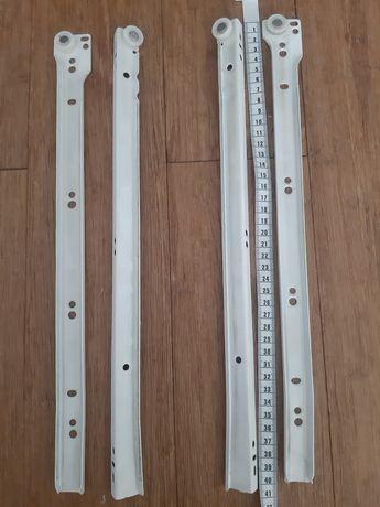 Zestaw prowadnic kulkowych 40 cmdo 2 szuflad standardowych drewnianych