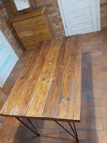 Stolik kawowy ława ze starych belek drewna