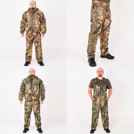 Зимний костюм для охоты и рыбалки с комбинезоном и штанами