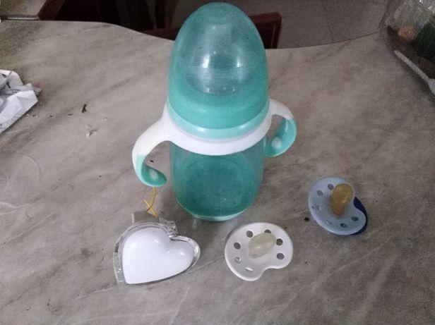 Детская Бутылочка +2 Соски+Ночник Сердце