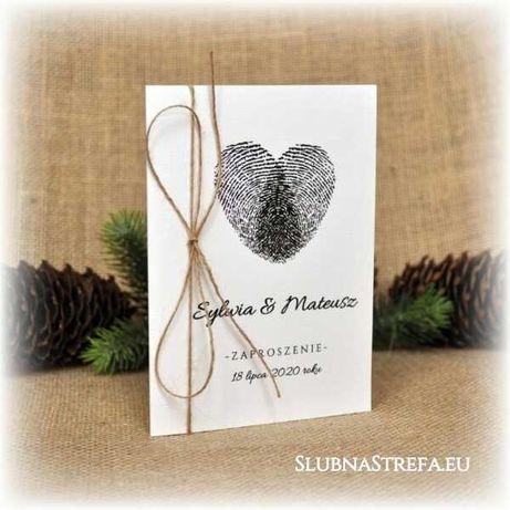 zaproszenie zaproszenia na ślub wesele zawiadomienia sznurek