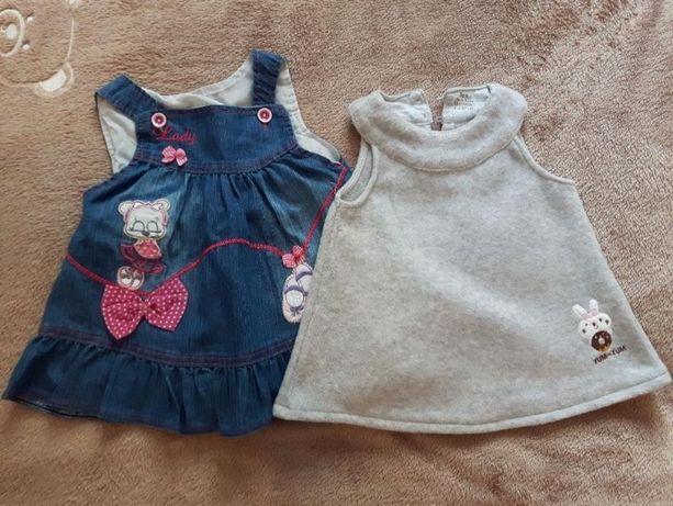 Sukienki dla dziewczynki x2 ,6 miesięcy