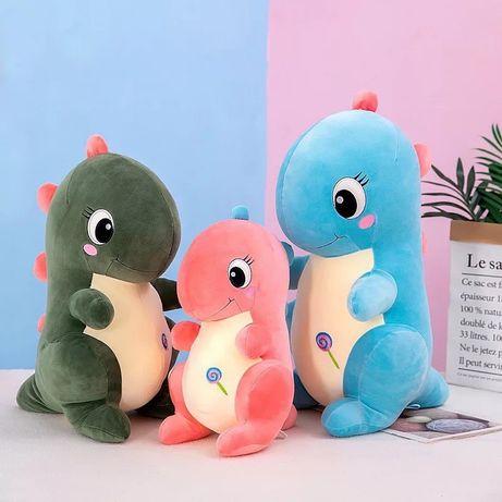 Игрушка подушка мягкая с пледом Динозавр Дино. Подарок!