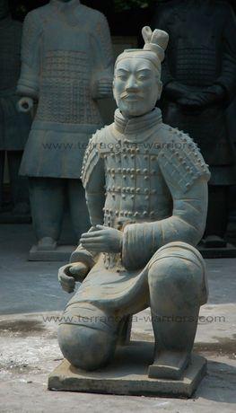 Escultura original de guerreiro de Xian antiga
