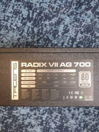 Fonte de alimentação Radix VII AG 700W 80 Plus silver