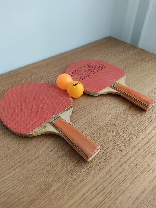 2 Raquetes de ping pong + 2 bolas Gualtar - imagem 1
