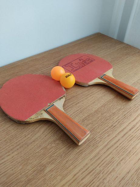 2 Raquetes de ping pong + 2 bolas
