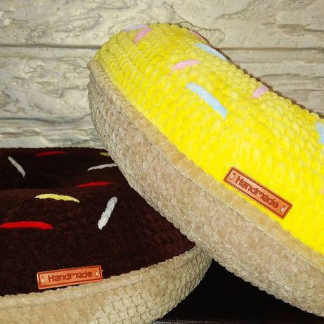 Плюшева / декоративна подушка Донатс пончик амигуруми handmade