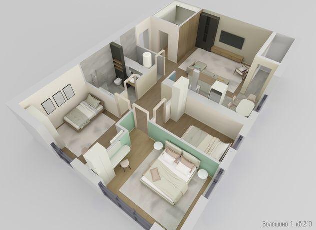 Найкраща пропозиція 3 кімнатна квартира в елітному ЖК КВАДРАТ