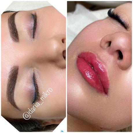 Брови, губы, перманентный макияж, пудровое напыление