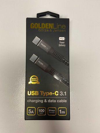 Kabel USB-C - USB-C GOTZE&JENSEN Golden Line 1 m uc01kc-c/c