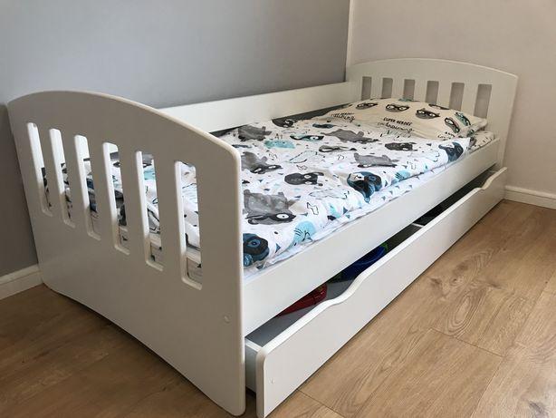 Łóżko dziecięce - młodzieżowe białe 180x80 z materacem