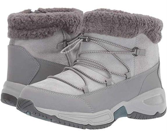 Крутые теплые зимние замшевые ботинки, сапожки с Америки